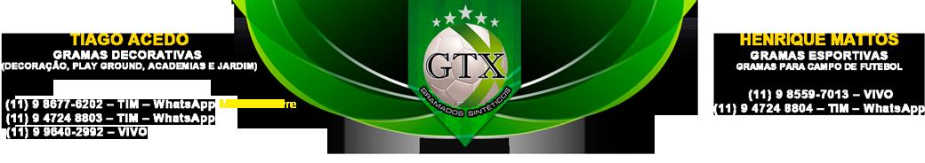 GTX Grama Sintética Esportiva e Decorativa   Gramas Sintéticas