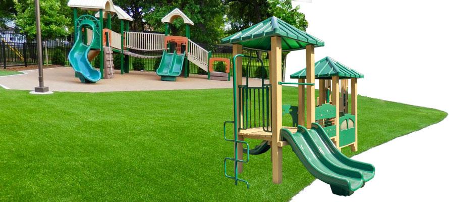 Grama Sintética Decorativa para Playground