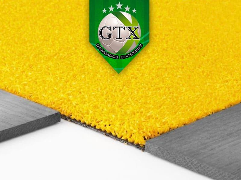Grama Sintética Decorativa Amarela 12mm