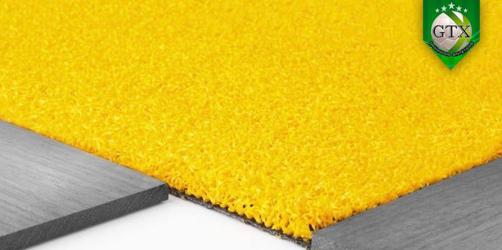 grama sintética decorativa amarela